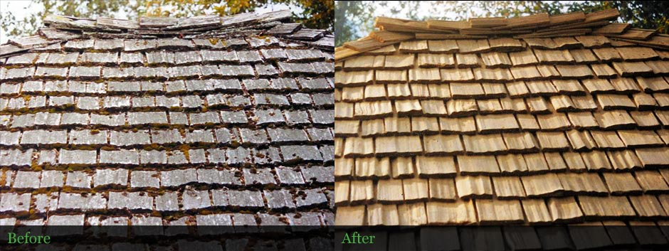 Cedar shake roof restored in Lane County Oregon