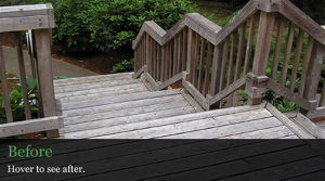 Deck Restoration Before - Lane County, Or