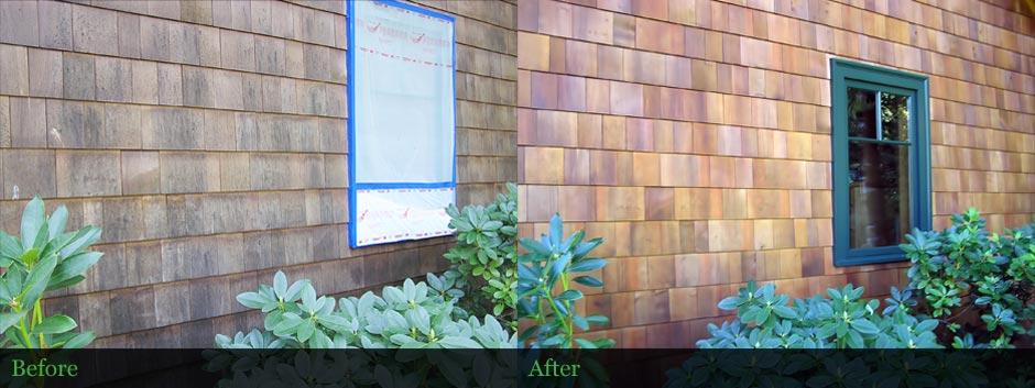 Shingle Siding Restoration - Cascades, Oregon