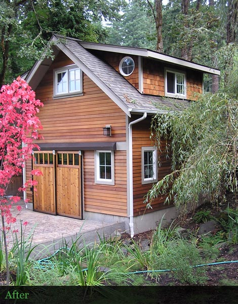 Wood Sidsing Restoration - Cascades, Oregon
