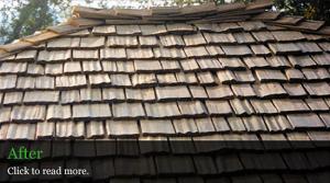 Cedar Roof After Restoration - Lane County, Oregon